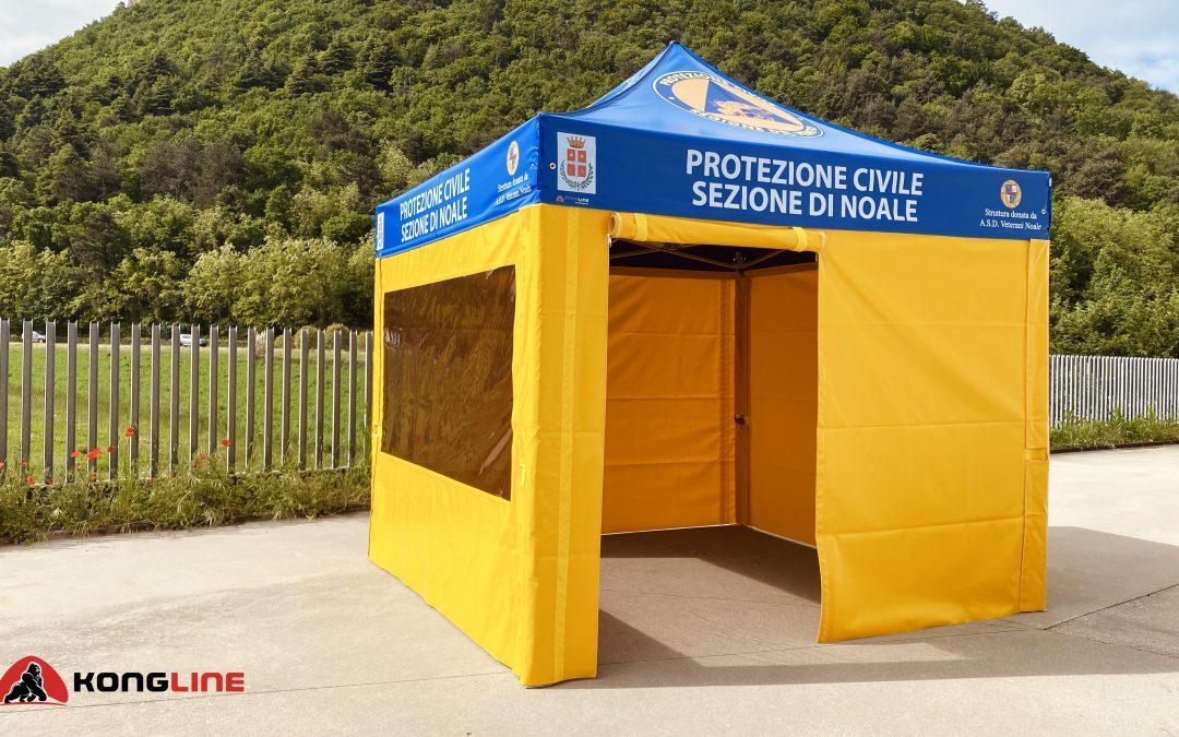 Il gazebo pieghevole realizzato per la Protezione civile di Noale