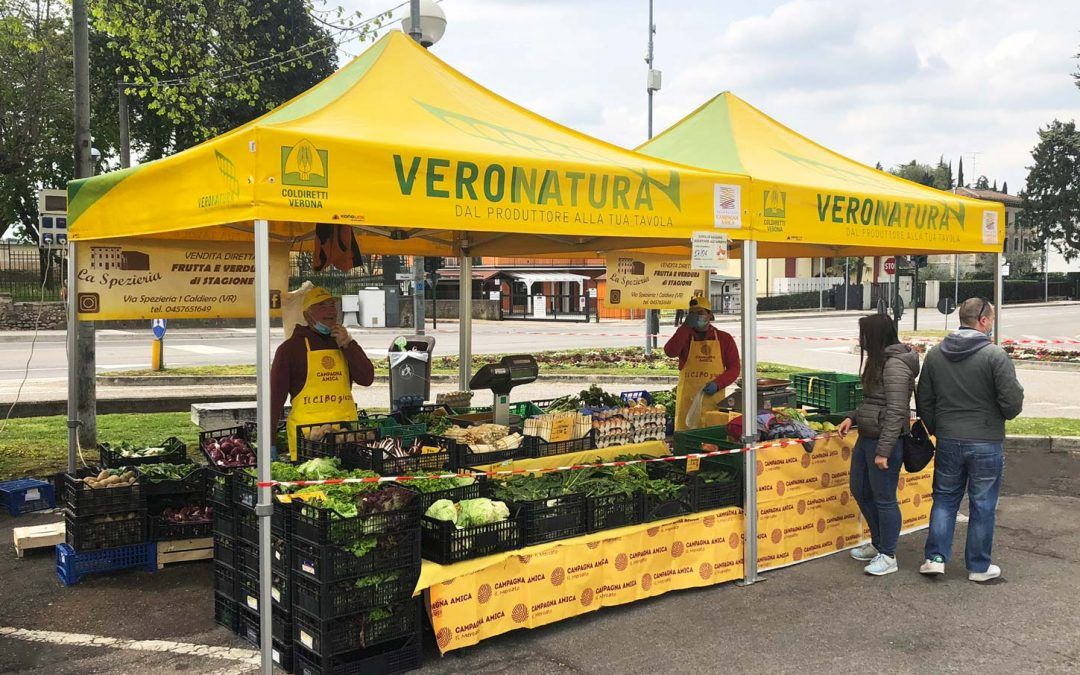 Kongline per Coldiretti: i gazebo pieghevoli a misura di frutta e verdura