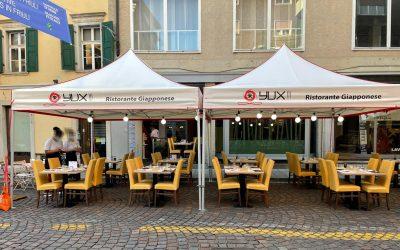 Il gazebo personalizzato conforme per bar e ristoranti